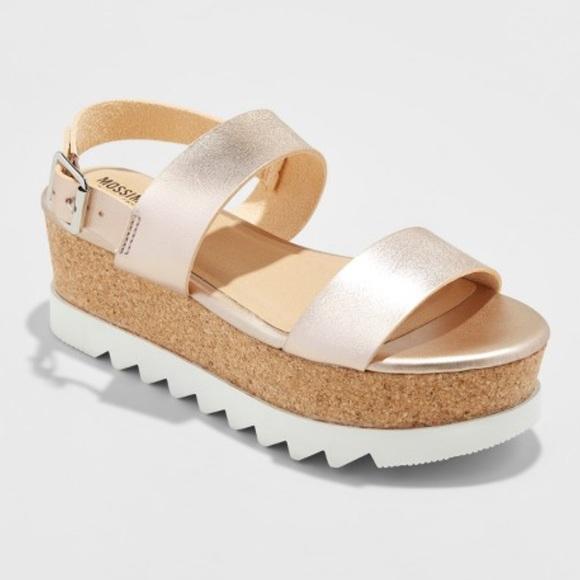 346b6ea29d8 Mossimo Supply Co. Rose Gold Platform Sandals